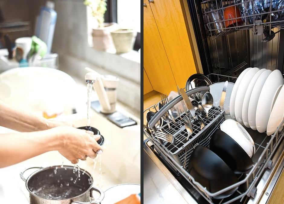 ¿Fregar a mano o poner el lavavajillas?
